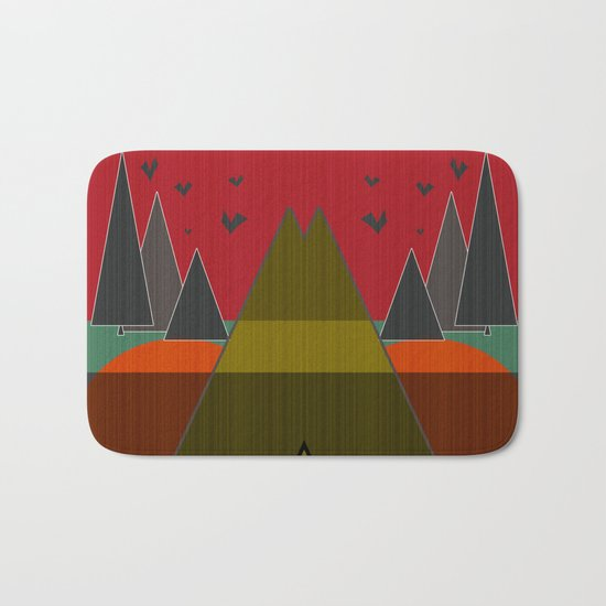 Abstract pattern . Mountains. Bath Mat