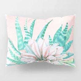 Desert Cactus Succulent Pillow Sham