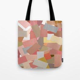 Coral Blocks 5050 Tote Bag