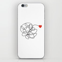 MESSY LOVE iPhone Skin