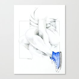 NUDEGRAFIA - 56  the girl with blue tennis shoes Canvas Print