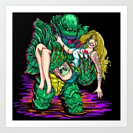 Creature From The Art Print