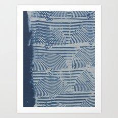 Indgo Paste Print Art Print
