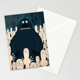 Groke, the moomins Stationery Cards