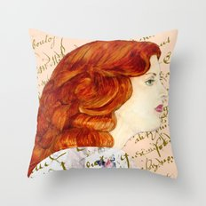 I love Redheads Throw Pillow