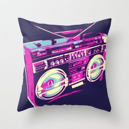 Boombox Pop Art Throw Pillow