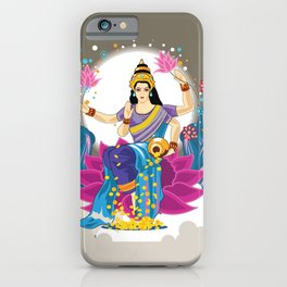 Goddess Lakshmi Cool Colors Vector iPhone Case