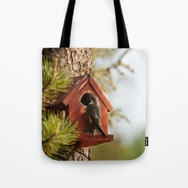 Brown Swallow Photography Print Tote Bag