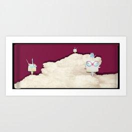 Time Rabbit Art Print