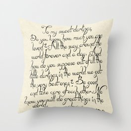 Sweet Darlings Throw Pillow