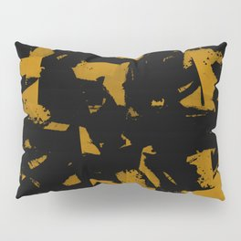 Looking For Gold - Abstract gold and black painting Pillow Sham