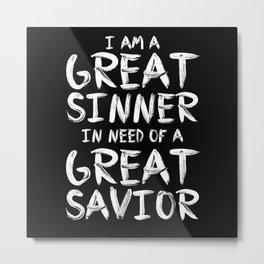Great Sinner Metal Print