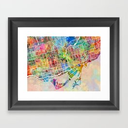 Toronto Street Map Framed Art Print