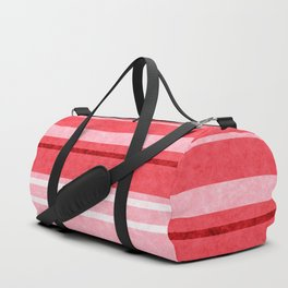 Red Grunge Stripes Texture Duffle Bag