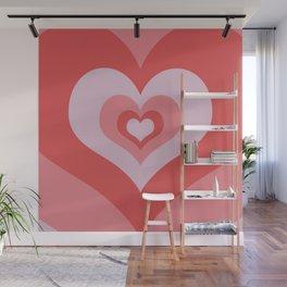 Radiating Hearts Pink Wall Mural