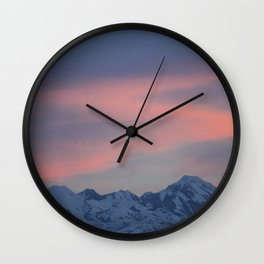 Dreamy Mountains Wall Clock