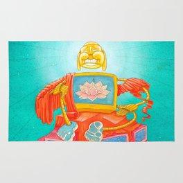 TV Screen Buddha Robot Rug
