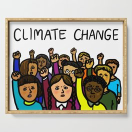 Activists Climate Change Serving Tray