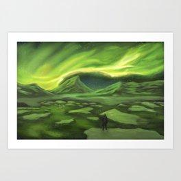 It's just the northern lights Art Print