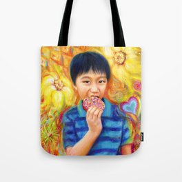 The Donut King Tote Bag