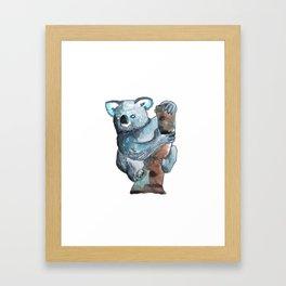 the koala awesome Framed Art Print
