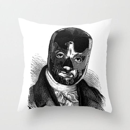 WRESTLING MASK 7 Throw Pillow