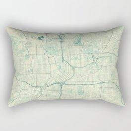 Atlanta Map Blue Vintage Rectangular Pillow