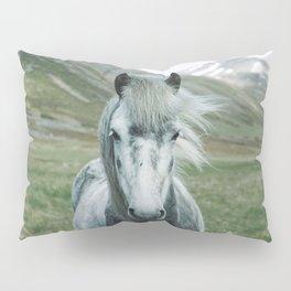 Grey Horse Pillow Sham