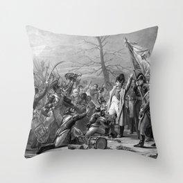 Napoleon Returns From Elba Throw Pillow