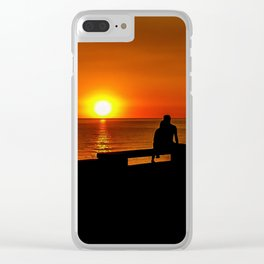 Romantic Coastal Urban Scene, Montevideo, Uruguay Clear iPhone Case