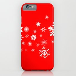 Red Christmas Snowflake  Banner iPhone Case