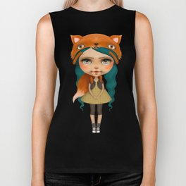 Happy doll with fox Biker Tank