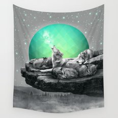 Echoes of a Lullaby / Geometric Moon Wall Tapestry