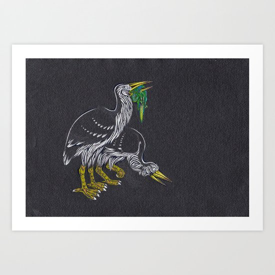 Rodrigues Night Herons Art Print
