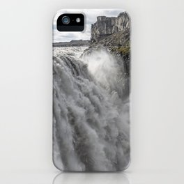 Dettifoss waterfall in Iceland - nature landscape iPhone Case