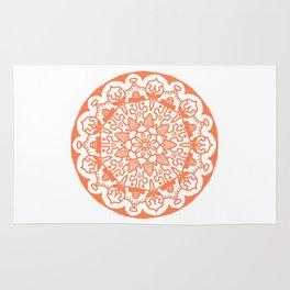 Orange Mandala Rug