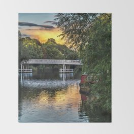 Above The Toll Bridge At Pangbourne Throw Blanket