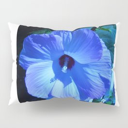 Blue Hibiscus Pillow Sham