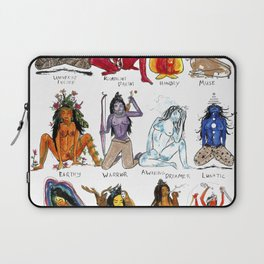 Her Moods - Watercolor Chart of the Emotions of the Female Mind Laptop Sleeve