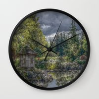 poland Wall Clocks featuring Hortulus-Poland HDR by helsch photography