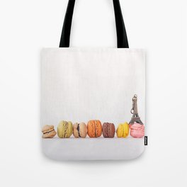 Paris, macarons and the eiffel tower Tote Bag