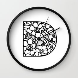 Letter D Wall Clock