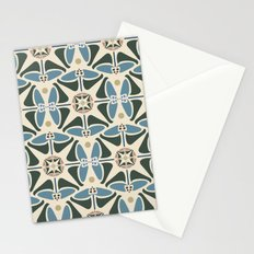 Blue Tulips - Circle Pattern Stationery Cards