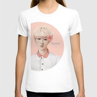 exo T-shirts featuring Flower Boy - Luhan by putemphasis