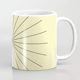 SpikeyBurst - Pastel Yellow with Black Coffee Mug