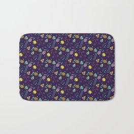 Flora & Beetles (purple) Bath Mat
