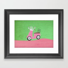 Enjoy The Ride Vespa Framed Art Print