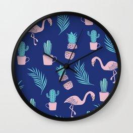 Summer Tropical Vibes Wall Clock