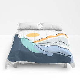 Minimalistic Landscape II Comforters