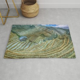 Rice Field Landscape Rug
